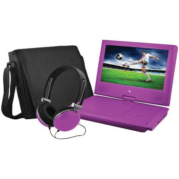 "9"" Portable DVD Player Bundles (Purple)-DVD Players & Recorders-JadeMoghul Inc."