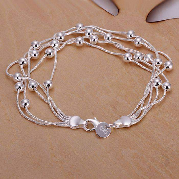 925 jewelry silver plated jewelry bracelet fine fashion bracelet top quality wholesale and retail SMTH234--JadeMoghul Inc.