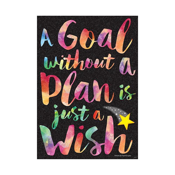 A GOAL WITHOUT A PLAN ARGUS POSTER-Learning Materials-JadeMoghul Inc.