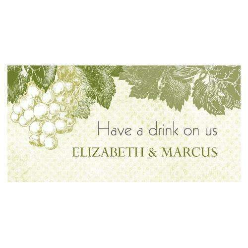 A Wine Romance Small Ticket Berry (Pack of 120)-Reception Stationery-JadeMoghul Inc.