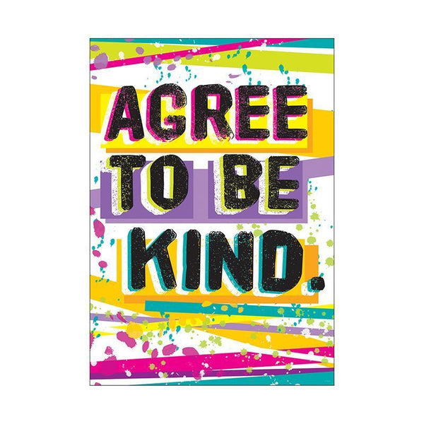 AGREE TO BE KIND ARGUS POSTER-Learning Materials-JadeMoghul Inc.