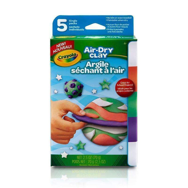 AIR DRY CLAY 5CT BRIGHT VARIETY PK-Arts & Crafts-JadeMoghul Inc.