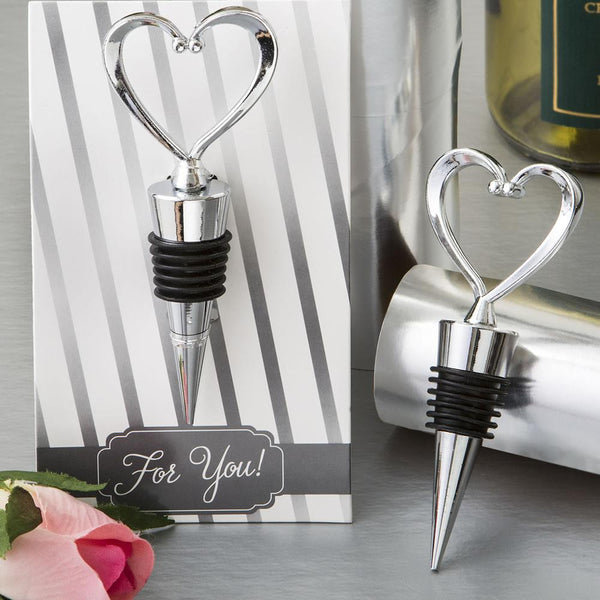 All Metal Heart Wine Bottle Stopper from fashioncraft-Personalized Coasters-JadeMoghul Inc.