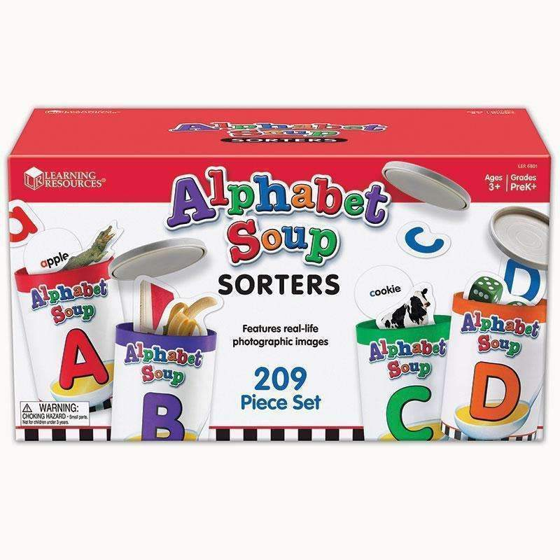 ALPHABET SOUP SORTERS-Learning Materials-JadeMoghul Inc.