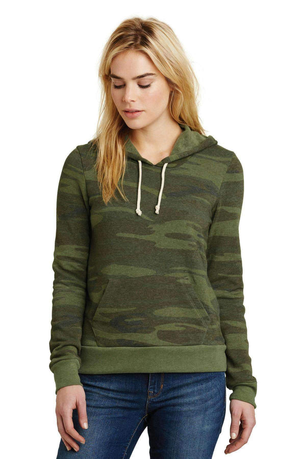Alternative Athletics EcoFleece Pullover Hoodie. AA9596-Ladies-Camo-XL-JadeMoghul Inc.