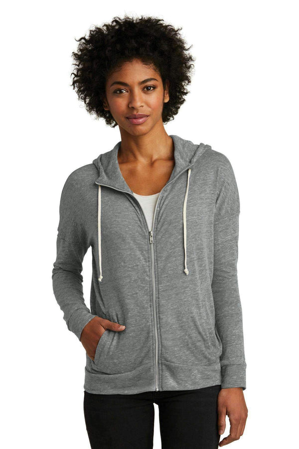 Alternative EcoJersey Cool-Down Zip Hoodie. AA2896-Ladies-Eco Grey-XL-JadeMoghul Inc.