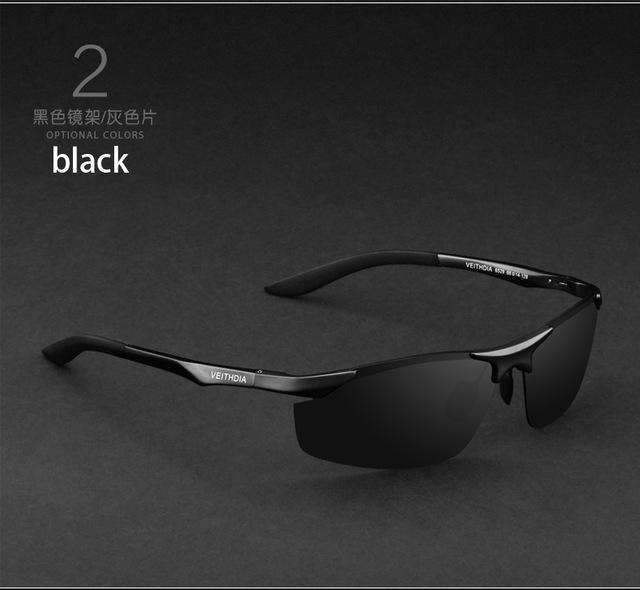 Aluminum Polarized Sunglasses / Men Sports Sunglasses-black with box1-JadeMoghul Inc.