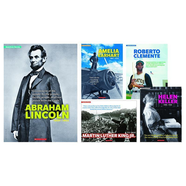 AMERICAN HEROES 5 PIECE POSTER ST-Learning Materials-JadeMoghul Inc.