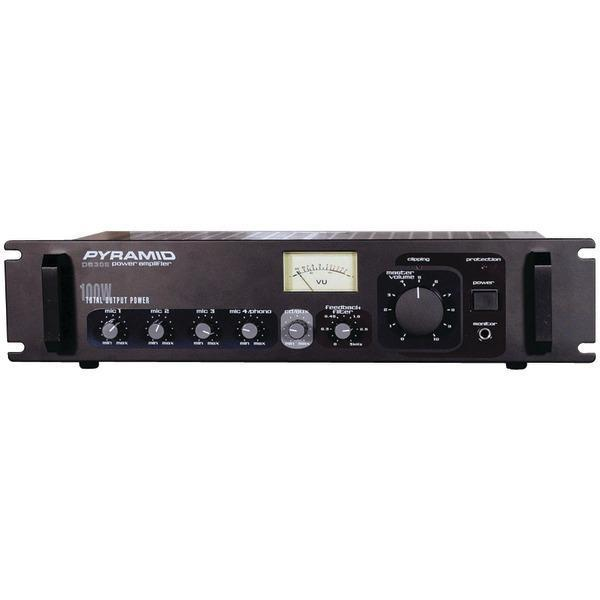 Amp with Microphone Input (300 Watt)-Amplifiers & Preamps-JadeMoghul Inc.
