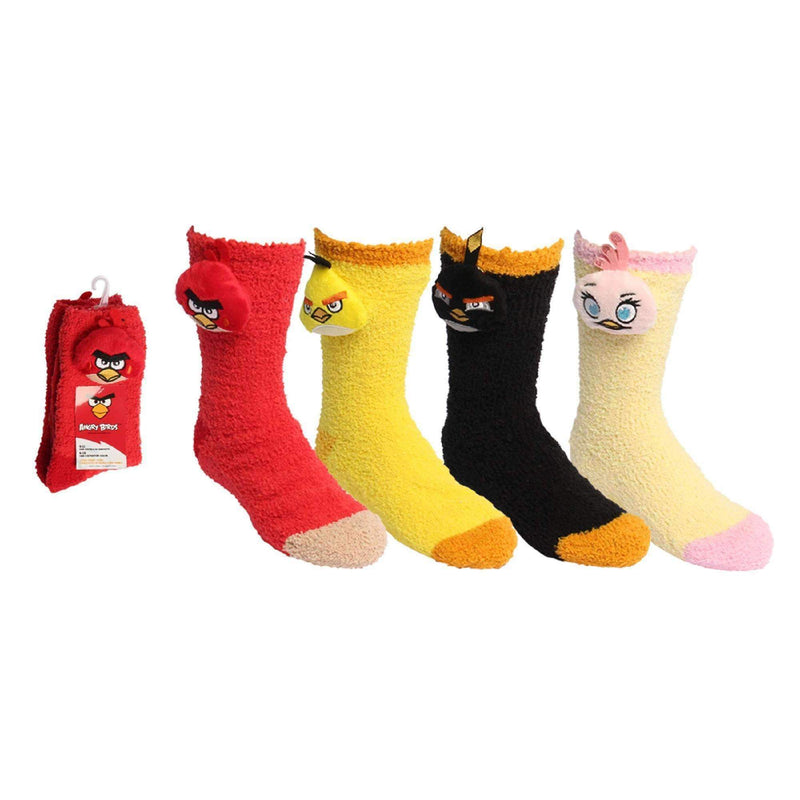Angry Birds Ladies Travel Socks Softee (4 styles in pack - 9-11 Sock Size and 6-10 Shoe Size)-Parasols & Rain Umbrellas-JadeMoghul Inc.