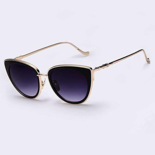 AOFLY Metal Frame Cat Eye Women Sunglasses Female Sunglasses Famous Brand Designer Alloy Legs Glasses oculos de sol feminino-C06-China-JadeMoghul Inc.