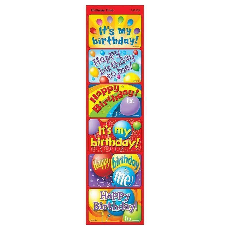 APPLAUSE STICKERS BIRTHDAY 30/PK-Learning Materials-JadeMoghul Inc.