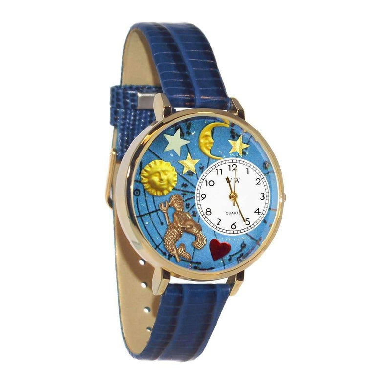 Aquarius Watch in Gold (Large)-Watch-JadeMoghul Inc.
