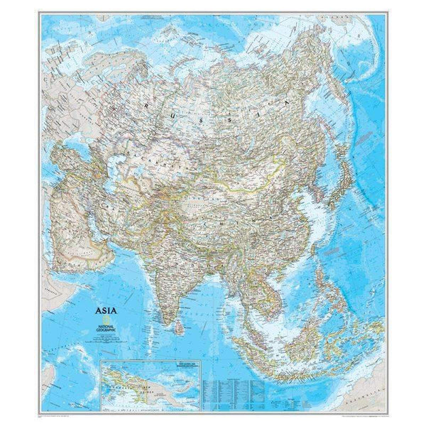 ASIA WALL MAP 34 X 38-Learning Materials-JadeMoghul Inc.