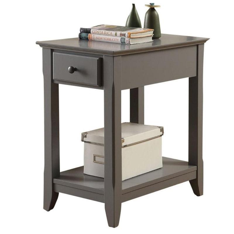 Astonishing Side Table, Gray-Side Tables and End Tables-Gray-MDF Solid Wood Leg-JadeMoghul Inc.