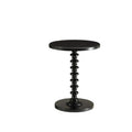 Astonishing Side Table With Round Top, Black-Side Tables and End Tables-Black-MDF Solid Wood Leg-JadeMoghul Inc.