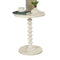 Astonishing Side Table With Round Top, White-Side Tables and End Tables-White-MDF Solid Wood Leg-JadeMoghul Inc.
