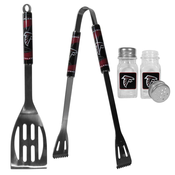 Atlanta Falcons 2pc BBQ Set with Salt & Pepper Shakers-Tailgating Accessories-JadeMoghul Inc.