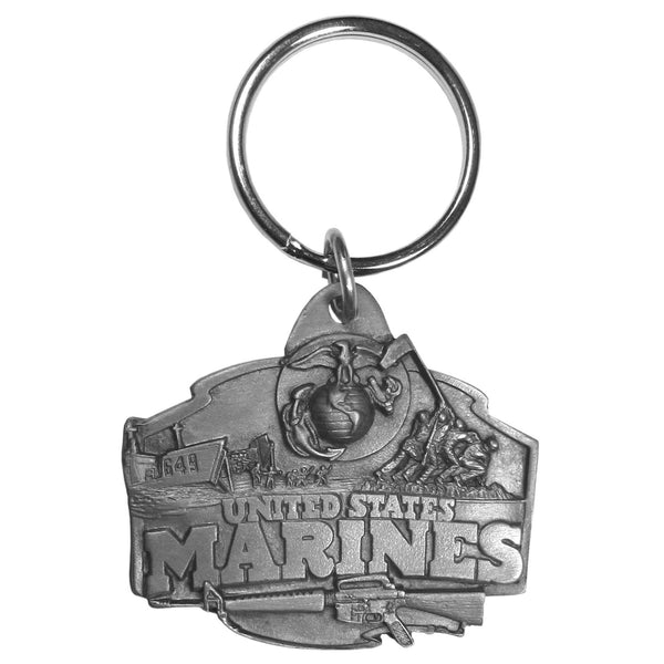 Authentic Sports Key Chains - Marines Antiqued Keyring-Key Chains,Scultped Key Chains,Antiqued Key Chain-JadeMoghul Inc.