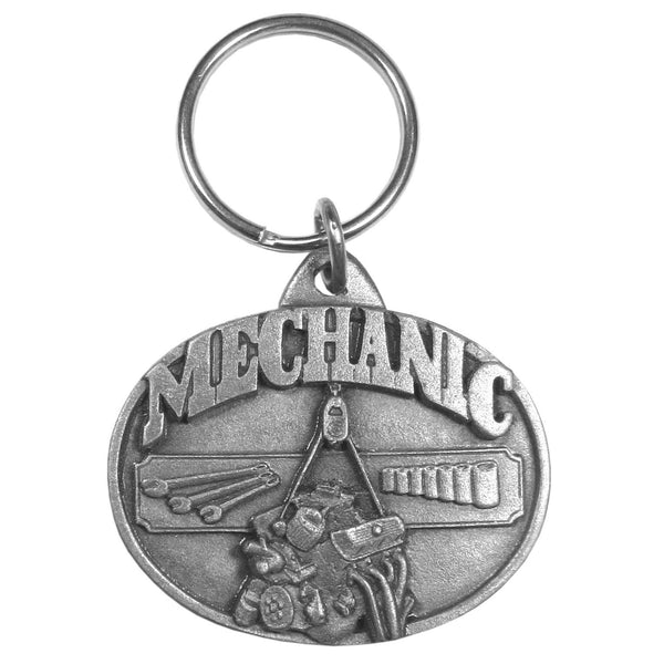 Authentic Sports Key Chains - Mechanic Antiqued Keyring-Key Chains,Scultped Key Chains,Antiqued Key Chain-JadeMoghul Inc.