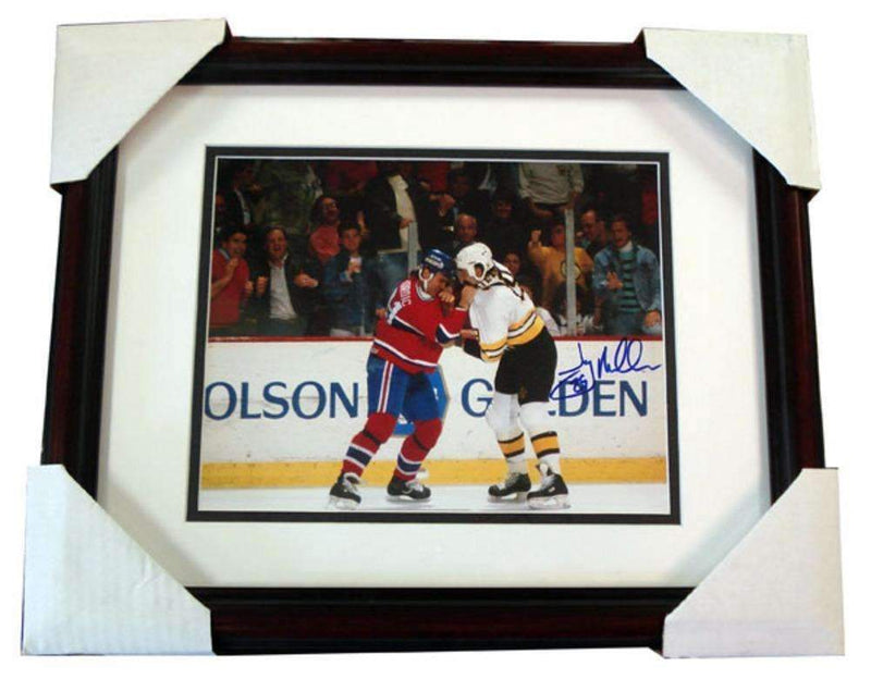 Autographed Jay Miller Framed Fight 8x10 Photo-AUTO HOCKEY MEMORABILIA-JadeMoghul Inc.