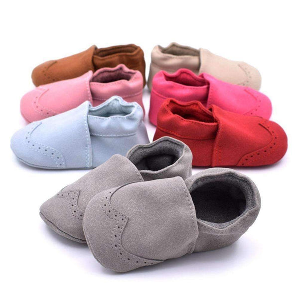Autumn Baby Shoes Indoor Warm Toddler Nubuck Leather Shoes Infant Girl Boy Soft Sole Anti Slip Shoes Baby Moccasins First Walker-Red-0-6 Months-JadeMoghul Inc.