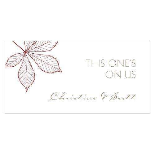Autumn Leaf Small Ticket Berry (Pack of 120)-Reception Stationery-Berry-JadeMoghul Inc.