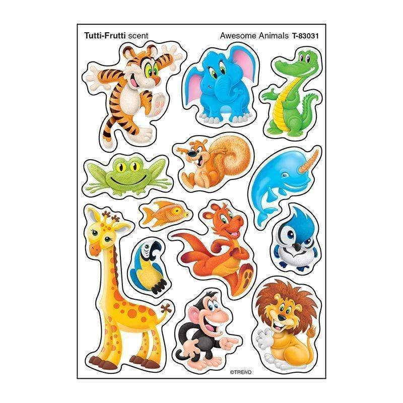 AWESOME ANIMAL STINKY STICKER MIXED-Learning Materials-JadeMoghul Inc.