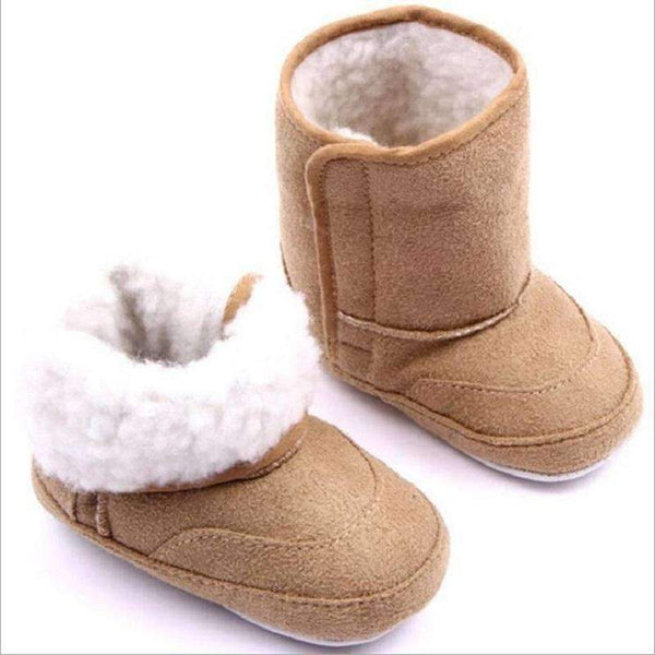 Baby Boy Winter Fur Lined Suede Boots-SH0433L-0-6 Months-JadeMoghul Inc.
