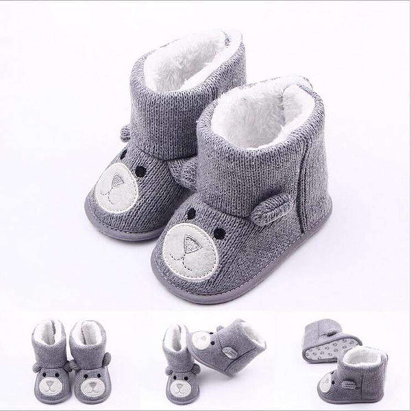 Baby Girls / Boys Cute Animal Winter Booties-A-0-6 Months-JadeMoghul Inc.
