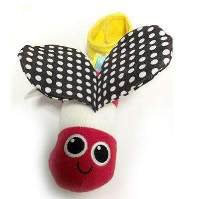 Baby Plush Toys Cute Animal Bee Wind Bell Stroller Bed Hanging Early Educational Toys Rattles-Red-JadeMoghul Inc.