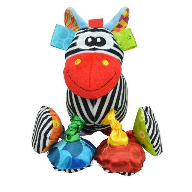 Baby Rattle Ring Bell Baby Toy Soft Plush Elephant Crib Bed Hanging Animal Teether Animal Infant Early Educational Doll WJ323-Zebra-JadeMoghul Inc.