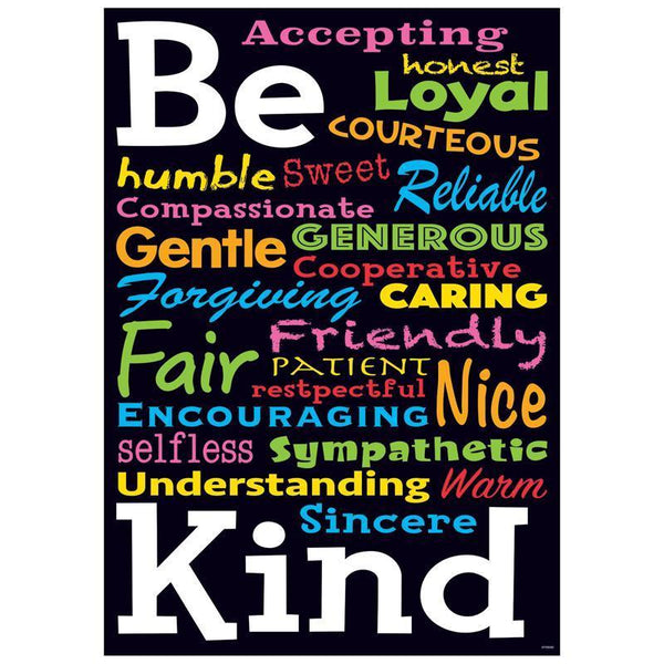 BE KIND ARGUS POSTER-Learning Materials-JadeMoghul Inc.