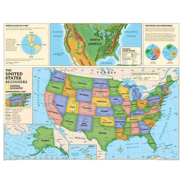 BEGINNERS UNITED STATES MAP-Learning Materials-JadeMoghul Inc.