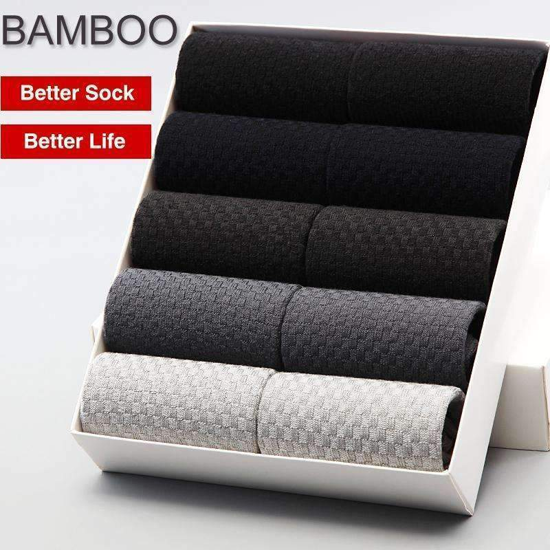 Bendu Brand Guarantee Men Bamboo Socks 10 Pairs / Lot Brethable Anti-Bacterial Deodorant High Quality Guarantee Man Sock-10 Black-JadeMoghul Inc.