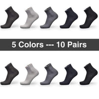 Bendu Brand Guarantee Men Bamboo Socks 10 Pairs / Lot Brethable Anti-Bacterial Deodorant High Quality Guarantee Man Sock-5 Colors 10 Pairs-JadeMoghul Inc.