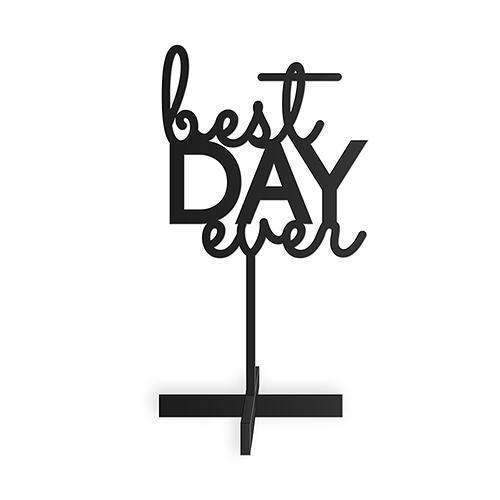 Best Day Ever Acrylic Sign - Black (Pack of 1)-Wedding Signs-JadeMoghul Inc.