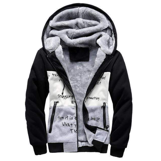 Best Jackets European Fashion Style Men Vintage Thickening Fleece Jacket / Warm Outerwear AExp