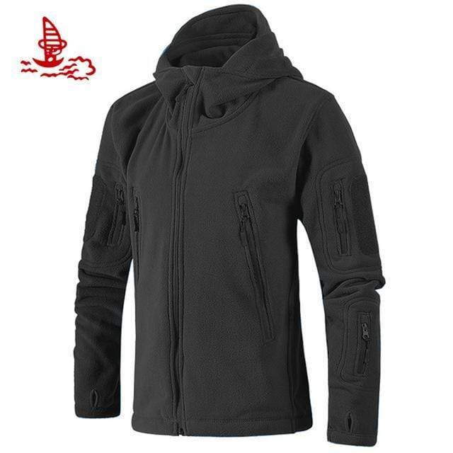 Best Jackets Men Military Tactical Fleece Jacket / Multi Pockets Outerwear AExp