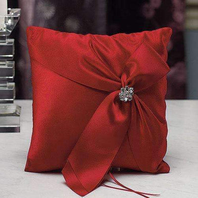 Beverly Clark Monroe Collection Ring Pillow Ruby OR Black (Pack of 1)-Wedding Ceremony Accessories-JadeMoghul Inc.