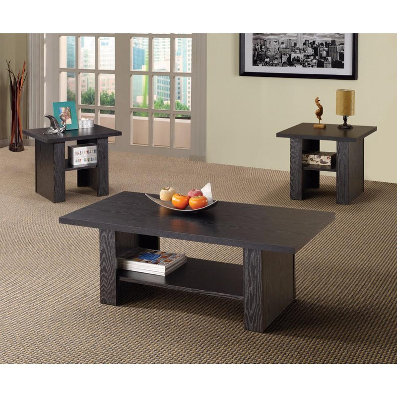 Bewildering rich black 3 piece occasional table set-Coffee Table Sets-BLACK-HOLLOW BOARD-JadeMoghul Inc.