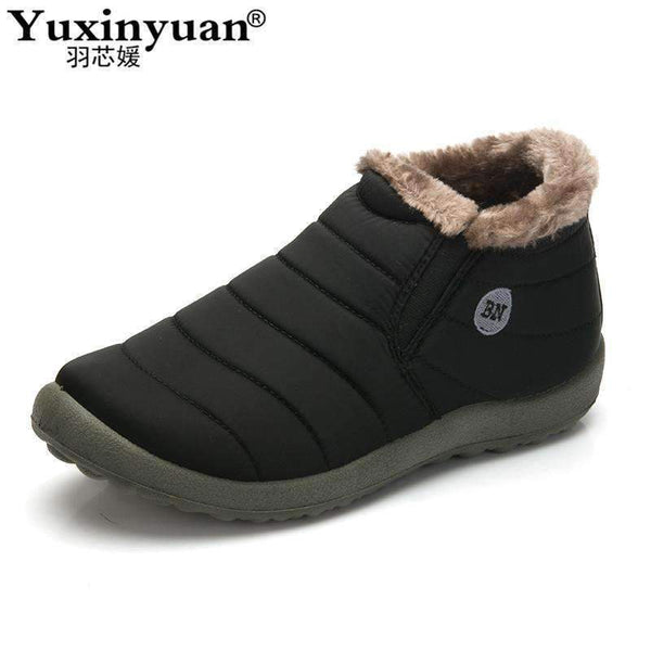 Big size 35-48 Warm Fur Men Snow Boots Shoe Flat Heels plush ankle boots Winter autumn Casual Shoes Platform outdoor Man shoes-army green-8-JadeMoghul Inc.