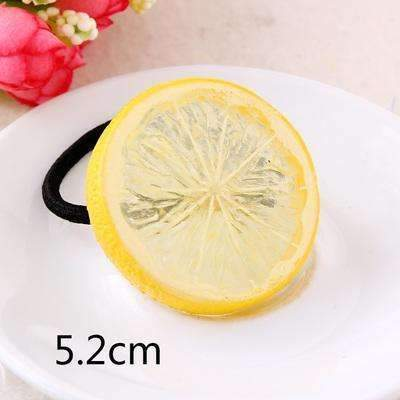 Big Size New Fashion Cute Lemon Hair Ropes Fruit Elastic Hair Rubber Bands For Women Girls Hair Ornaments Accessories Headbands-Yellow Lemon Rubber-JadeMoghul Inc.