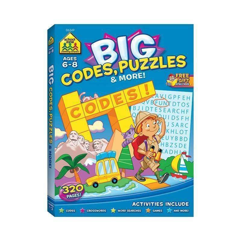 BIG WORKBOOK ALPHABET CODES PUZZLES-Learning Materials-JadeMoghul Inc.