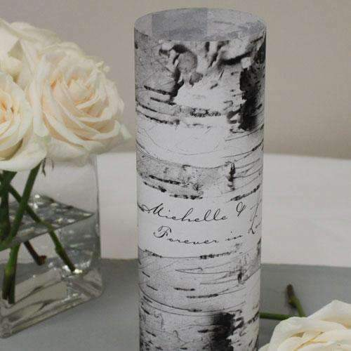 Birch Bark Vellum Luminary Wrap with sticker Mocha Mousse (Pack of 1)-Reception Stationery-JadeMoghul Inc.