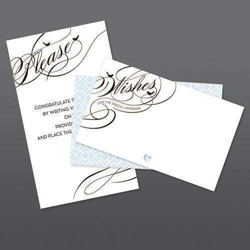 Birdcage Wish Card Stationery Set (Pack of 50)-Wedding Reception Accessories-JadeMoghul Inc.