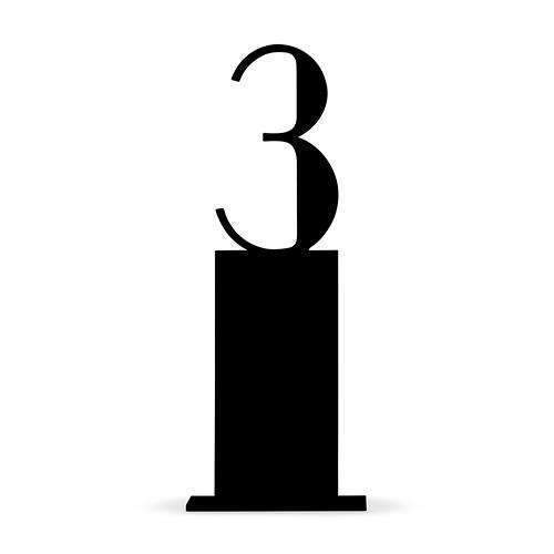 Black Acrylic Table Number - Pedestal Style (Pack of 1)-Table Planning Accessories-JadeMoghul Inc.