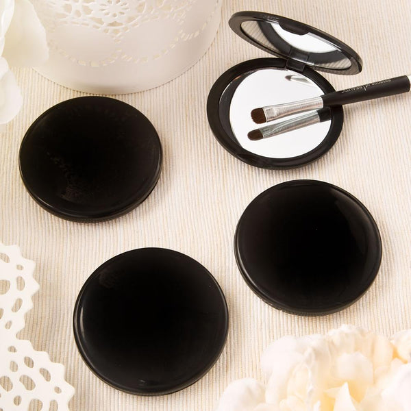 Black compact mirror from Fashioncraft's Perfectly Plain Collection-Personalized Gifts for Men-JadeMoghul Inc.