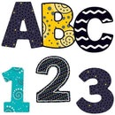 BLACK WHITE & BOLD EZ LETTERS 3IN-Learning Materials-JadeMoghul Inc.