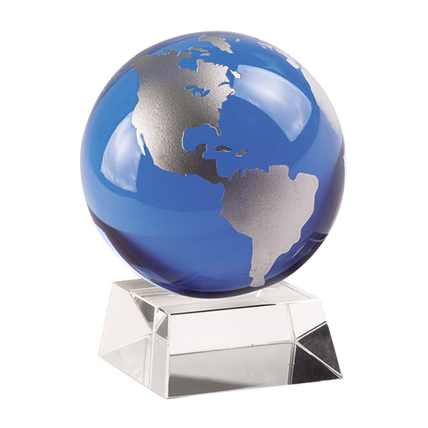 Blue And Sparkling Silver Globe Onstand-Seasonal Merchandise/Gifts-JadeMoghul Inc.